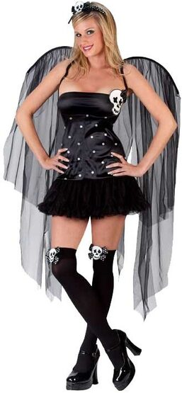 Womens Sexy Skull Fairy Costume