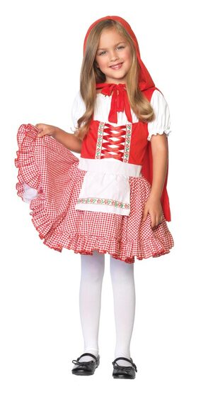 Girls Fairytale Little Red Riding Hood Kids Costume