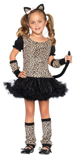 Kids Leopard Dress Cat Costume