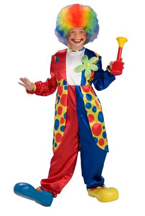 Kids Bubbles the Circus Clown Costume