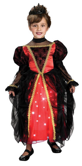 Girls Twinkle Gothic Princess Costume