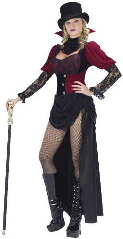 Womens Sexy Burlesque Vampiress Costume