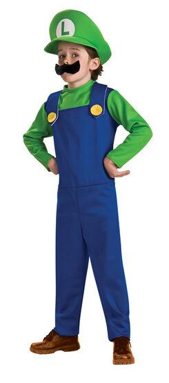 Kids Mario Brothers Luigi Costume