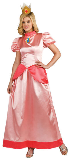 Adult Mario Brothers Princess Peach Costume