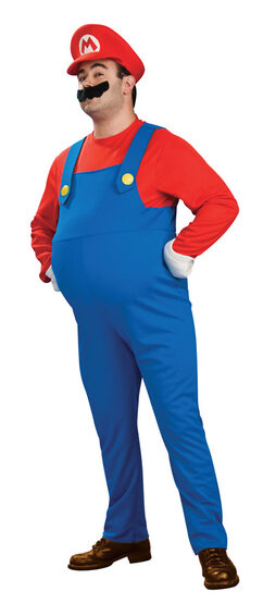 Deluxe Plus Size Super Mario Costume