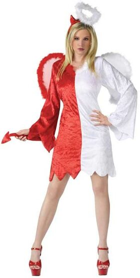 Adult Naughty and Nice Angel Devil Costume