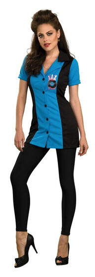 Womens Ginger Bowling Girl 50s Costume