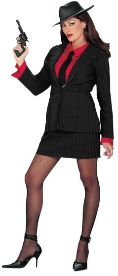 Womens Adult Professional Gangster Costume