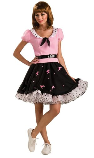Adult Suzie Q Poodle Skirt 50s Costume