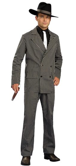 Mens Striped Adult Gangster Costume