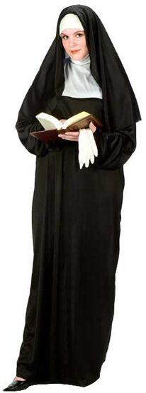 Womens Blessed Nun Plus Size Costume