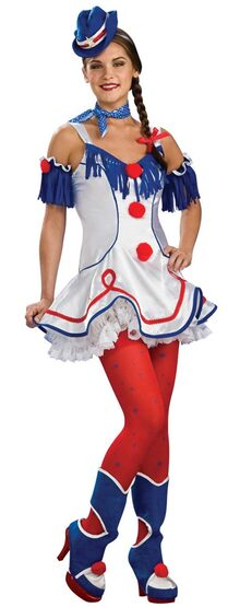Womens Rodeo Clown Costume
