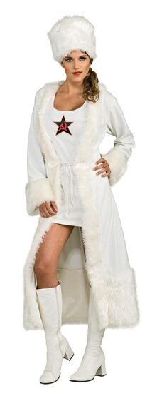 Womens Sexy White Russian Costume
