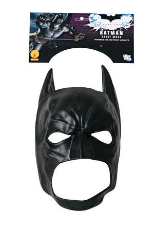3/4 Vinyl Adult Batman Mask