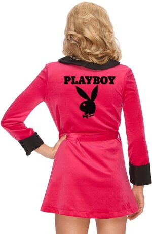 Pink Sexy Girlfriend Playboy Costume