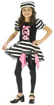 Girls Convict Cutie Kids Costume