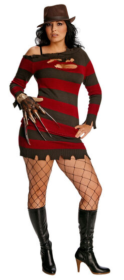 Womens Miss Krueger Sexy Plus Size Costume