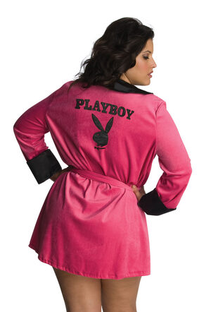 Playboy Pink Sexy Girlfriend Plus Size Costume