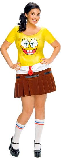 Plus Size Sexy Spongebob Costume