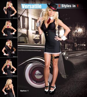5-Style Sexy Gangster Costume