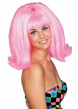 Adult Pink 50s Flip Wig