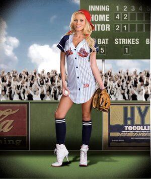 Womens Grandslam Sexy Baseball Costume