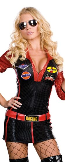 Womens Ride It Sexy Race Car Driver Costume