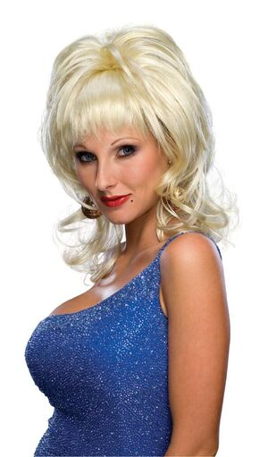 Womens Adult Blonde Country Singer Wig