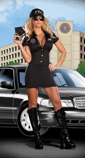 FBI Agent Mia Babe Sexy Cop Costume