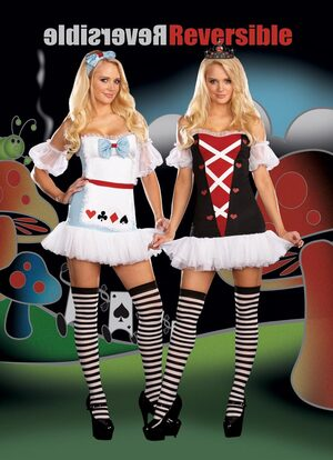 Reversible Sexy Alice in Wonderland Costume