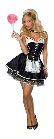 Flirty Sexy French Maid Costume