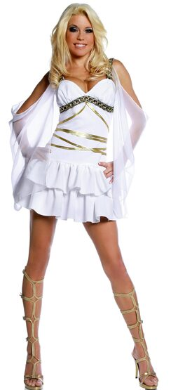 Womens Aphrodite Sexy Greek Goddess Costume