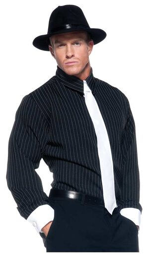 Mens Pinstripe Gangster Costume