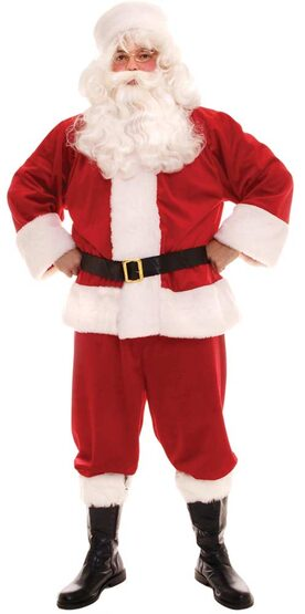 Adult Plush Santa Claus Costume