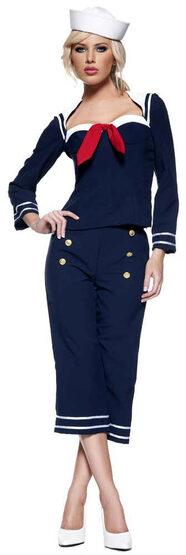Womens Ship Mate Sailor Girl Costume