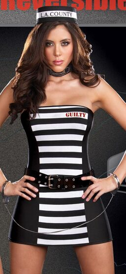 Reversible Prison Guard Sexy Convict Costume