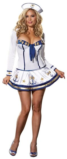 Making Waves Sexy Plus Size Sailor Costume