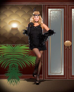 All That Jazz Sexy Plus Size Flapper Costume