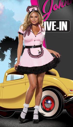 Sherri Cola Sexy Plus Size 50s Costume