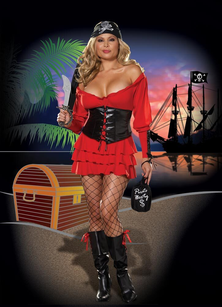 Family Jewel Sexy Pirate Wench Plus Size Costume  sc 1 st  Mr. Costumes & Family Jewel Sexy Pirate Wench Plus Size Costume - Mr. Costumes