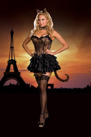 Bonjour Kitty Sexy Plus Size Cat Costume