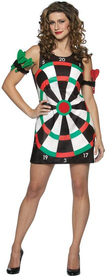 Womens Peel n Stick Dartboard Sexy Costume