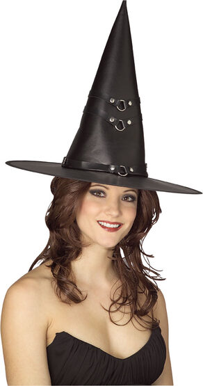Adult Vinyl Witch Hat