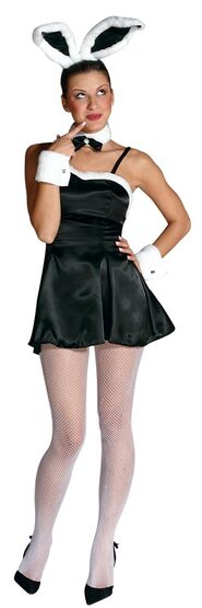 Sexy Black Cocktail Bunny Costume