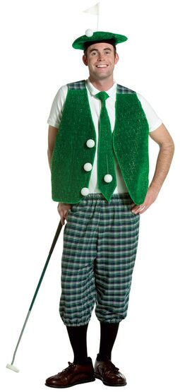 Mens Funny Adult Golf Costume