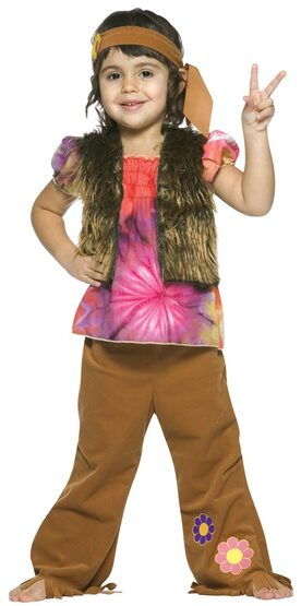Kids Hippie Girl Toddler Costume