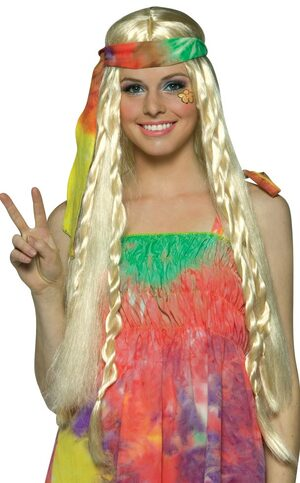 Adult Womens Hippie Wig