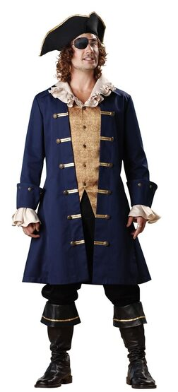Elite Adult Captain Cutthroat Mens Pirate Costume