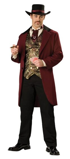Elite Mens Riverboat Gambler Adult Costume