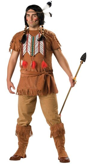 Plus Size Indian Brave Costume
